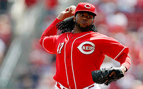 Johnny Cueto throwing a heater!