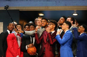 The Newest NBA players heading into the season with many more ! This is a pic of the players invited to the draft and who were waiting in the green room to hear their names !
