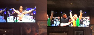 Went to the local bar to watch McGregor TKO Mendes!  McGregor's last 4 opponents have been TKO on punches