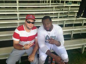Gerald McCoy and me. Can't wait for training camp to start and see my Bucs get back to work and then lead the ship back to the playoffs. Fire the cannons and protect the ship and its a Bucs life for me!