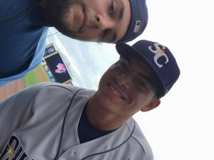 Willy Adames and me. Seen him play and he is going to be a monster. He has all the tools to be successful!